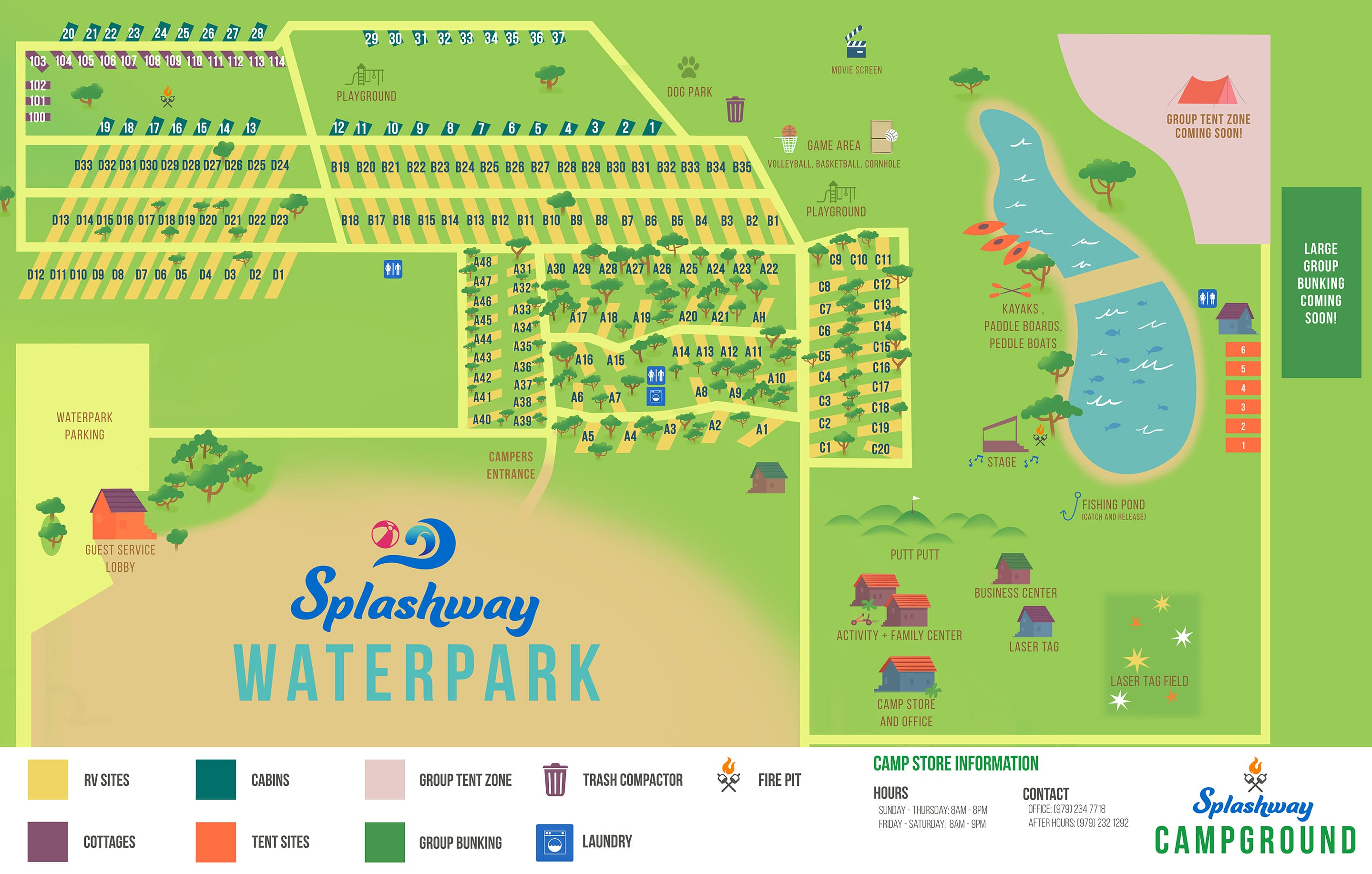 Splashway Campground Map